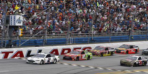 Brad Keselowski won Sunday's NASCAR Sprint Cup race at Talladega.
