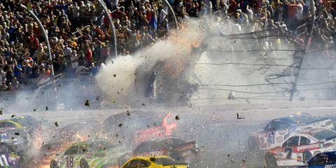 Austin Dillon's crash at Daytona in July came during a green-white-checkered finish.