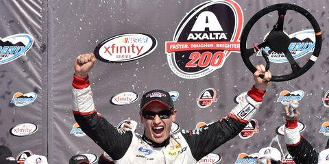Joey Logano won the NASCAR Xfinity race at Phoenix.