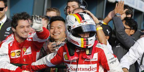 Ferrari newcomer Sebastian Vettel finished third in Sunday's Australian Grand Prix.