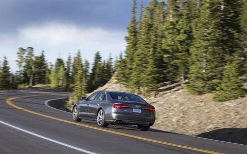 The aggressive lane assist was our only real complaint for the 2015 Audi S8.
