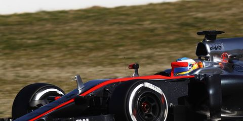 Fernando Alonso was participating in a four-day test for Formula One cars in Barcelona. The test sessions wrapped up on Sunday.