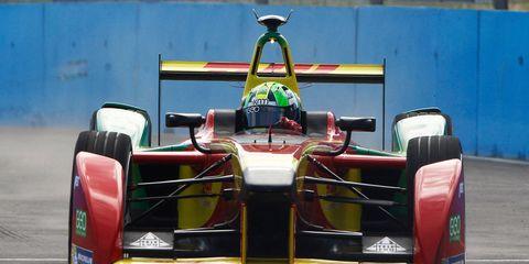 Brazilian Lucas di Grassi won the first Formula E race.
