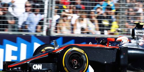 Jenson Button spent last Sunday's Australian Grand Prix well behind the leaders and out of contention before the race even started.