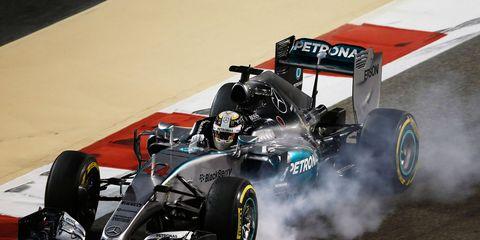 Lewis Hamilton has won three of the first four Formula One races this season.