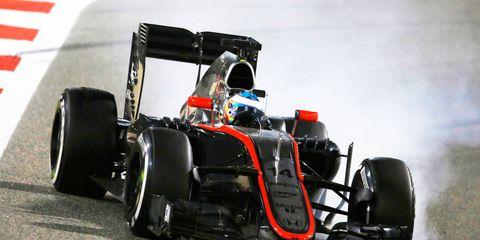 Fernando Alonso finished 11th for McLaren-Honda at Bahrain.
