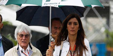Bernie Ecclestone and wife Fabiana.