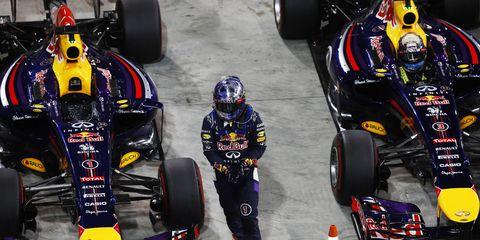 F1 boss Bernie Ecclestone said he was disappointed in Sebastian Vettel's attitude in 2014.