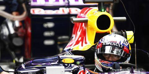 Daniel Ricciardo was third in practice in Shanghai on Friday, behind the Mercedes tandem of Lewis Hamilton and Nico Rosberg.
