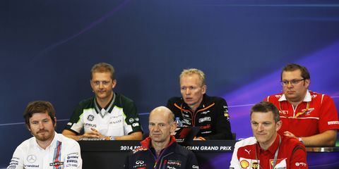 Formula One team representatives met with the press on Friday in Belgium.