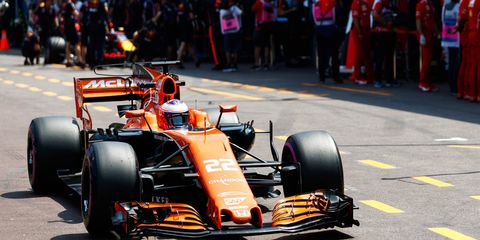 Jenson Button is back in an Formula 1 cockpit this weekend in Monaco. He's replacing Fernando Alonso, who plans to race in the Indy 500.