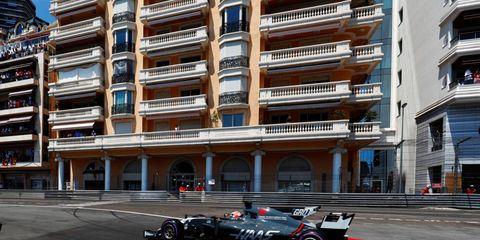 Romain Grosjean finished eighth in Monaco Sunday.