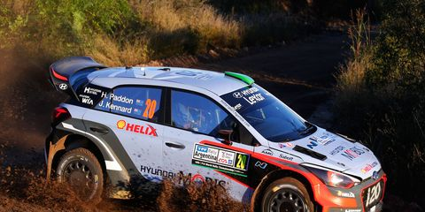 Hayden Paddon makes his way through Argentina during his eventual WRC win.