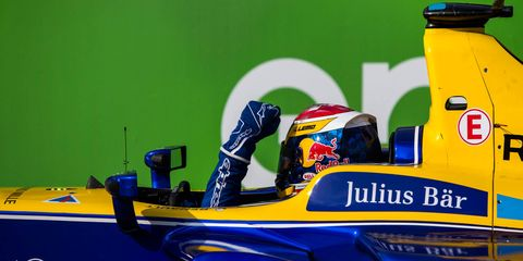 Sebastien Buemi wins the Berlin ePrix by 1.767 seconds over Daniel Abt on Saturday.