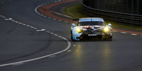 The 911 RSR Porsche of Patrick Dempsey, Patrick Long and Marco Seefried took second place in the GTE-Am class.
