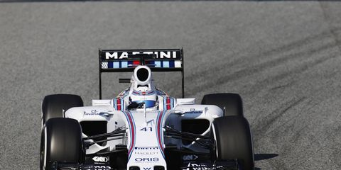 Susie Wolff turns laps for Williams during the recent Formula One test in Barcelona. She completed 83 laps on Feb. 19 before crashing.