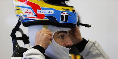 Fernando Alonso has not been in a Formula One car since his Feb. 22 crash during a test in Barcelona.