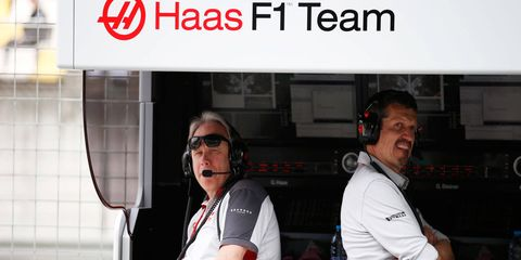 Early indications are that the Haas F1 Team, which includes team owner Gene Haas, left, and team principal Gunther Steiner, right, is getting significant bang for its buck in Formula One.