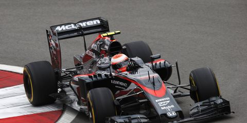 Jenson Button takes a turn at Sochi. Brakes will play a big role in the Russian Grand Prix this weekend.