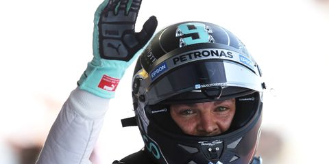 Nico Rosberg won the pole for Sunday's Formula One race in Barcelona.