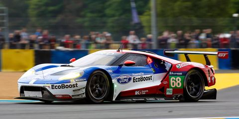 Dirk Muller put the Ford GT on the pole for the 24 Hours of Le Mans.