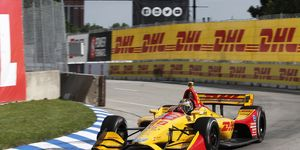 Ryan Hunter-Reay was relying on a three-stop strategy Sunday.
