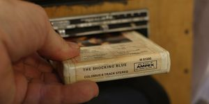 This Shocking Blue tape, which I bought for a dime in a Lexington, Kentucky thrift store in 1995, is the pride of my 8-track collection.