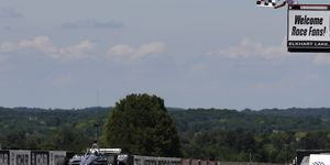 Josef Newgarden led all but two laps at Road America Sunday.