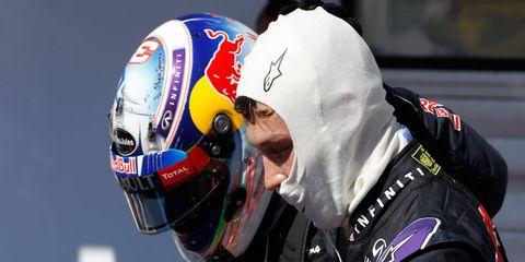 Daniel Ricciardo and Daniil Kvyat finished on the podium on Sunday in Hungary. Kvyat's second-place finish earned him his first F1 podium.