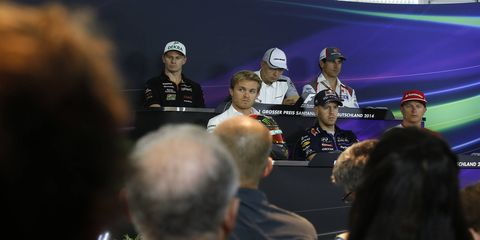 Several Formula One drivers met with the press on Thursday.