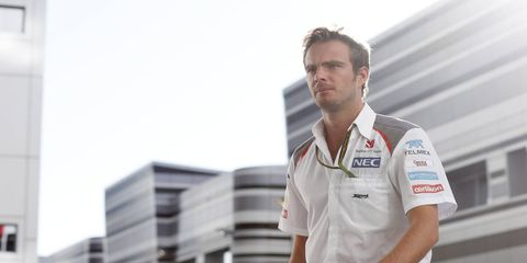 Giedo Van der Garde taking legal action against Sauber in hopes of getting back into an F1 seat.
