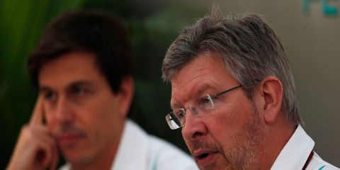 Ross Brawn didn't feel like Toto Wolff, background, always had his back at Mercedes.