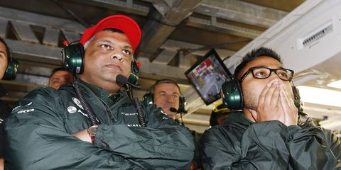 Tony Fernandes, left, has had an awful year. He was forced to sell his Caterham Formula One team and over the weekend, his airline, AirAsia, lost a flight. It is suspected that the plane crashed into the ocean.