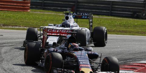 Max Verstappen became the youngest driver to score points in a Formula One race on Sunday in Malaysia.