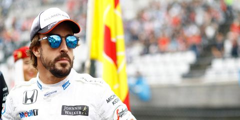 Fernando Alonso is not happy that he's being left out of this week's Pirelli test of 2017 tires in Barcelona.
