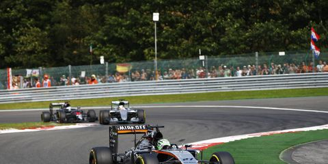 Nico Hulkenberg led Force India on Sunday, which had its best showing of the season in Belgium.
