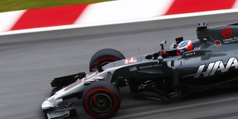 Roman Grosjean was involved in an unorthodox incident on Friday at Sepang.