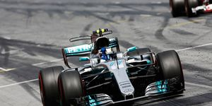 Valtteri Bottas captured his second race win of the Formula 1 season, holding off hard-charging Sebastian Vettel in Austria on Sunday.