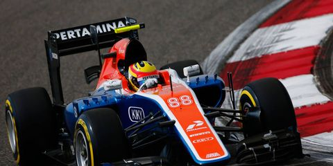 Rio Haryanto has failed to score a point in his first three Formula One races. His best finish was 17th at Bahrain.