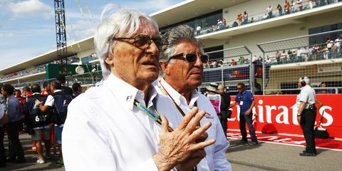 It appears that there will be no change in Formula One leadership for 2015 and that all eyes will still be on Bernie Ecclestone, left.