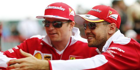 A British newspaper is reporting that Sebastian Vettel worked hard to ensure that Kimi Raikkonen got an extension at Ferrari.