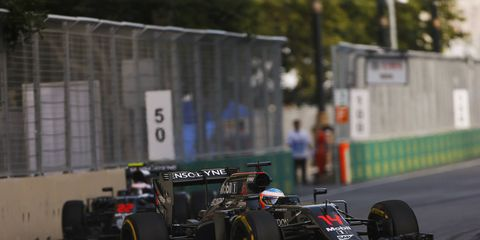 Although Fernando Alonso, shown, thinks McLaren-Honda is poised to unseat Mercedes as the dominant team in F1, team boss Yusuke Hasegawa says it will be a couple of years before the team wins a podium.