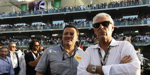 Piero Ferrari, Enzo Ferrari's only living son, agrees with the latest shakeup of the Ferrari Formula One program. Ferrari, shown in 2013 with Pirelli director Paul Hembery, supports the direction the team is headed.