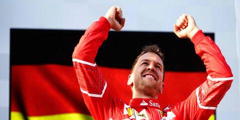 Sebastian Vettel won the Formula 1 opener in Melbourne.