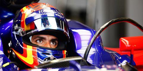 Carlos Sainz Jr. is ninth in the Formula 1 drivers' standings.