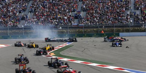 Daniil Kvyat said he called fellow driver Sebastian Vettel speak to him about a wreck that happened during the first lap of Sunday's Russian Grand Prix. Kvyat has admitted fault for the crash.