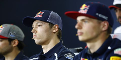 Daniil Kvyat answered questions Thursday about his demotion to Toro Rosso.