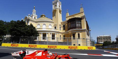 Sebastian Vettel is the current points leader.