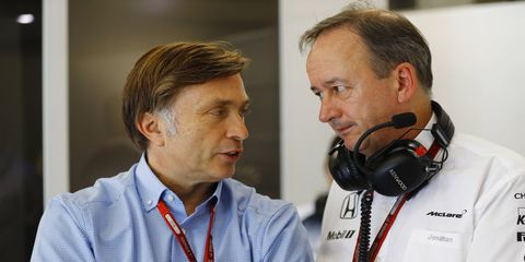 Jost Capito, left, will officially join McLaren F1 as CEO on Sept. 1.