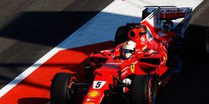 Sebastian Vettel leads Lewis Hamilton by 14 points in the Formula 1 championship.